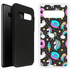 Samsung Galaxy S10 Plus Duo Case Vit Unicorns In Paradise Grey