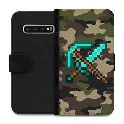 Samsung Galaxy S10 Wallet Case Minecraft