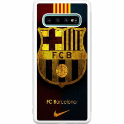 Samsung Galaxy S10 Plus Soft Case (Vit) FC Barcelona