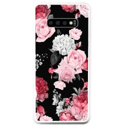 Samsung Galaxy S10 Plus Soft Case (Vit) Blommor