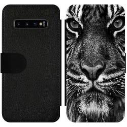 Samsung Galaxy S10 Plus Wallet Slim Case Tiger