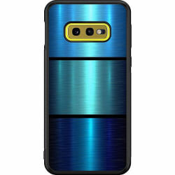 Samsung Galaxy S10e Soft Case (Svart) Blue Metallic Stripes