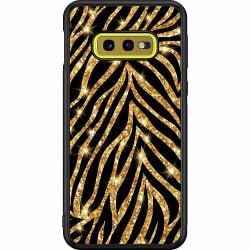 Samsung Galaxy S10e Soft Case (Svart) Gold & Glitter