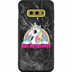 Samsung Galaxy S10e Soft Case (Svart) Unicorn - Dra Åt @!#