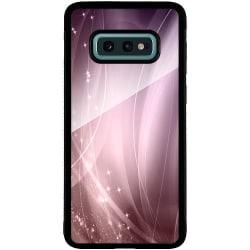 Samsung Galaxy S10e Svart Mobilskal med Glas Rosa