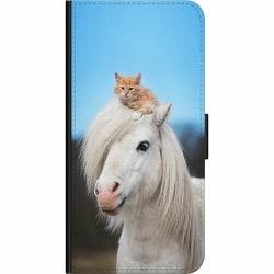 Huawei P40 Lite E Wallet Case Häst & Katt
