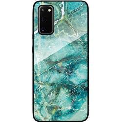 Samsung Galaxy S20 Svart Mobilskal med Glas Light Emerald
