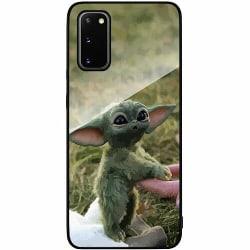 Samsung Galaxy S20 Svart Mobilskal med Glas Yoda