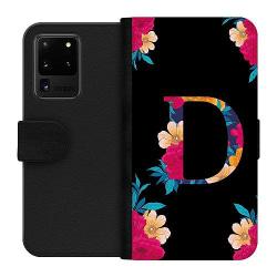 Samsung Galaxy S20 Ultra Wallet Case Bokstaven - D