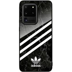 Samsung Galaxy S20 Ultra Svart Mobilskal med Glas Fashion