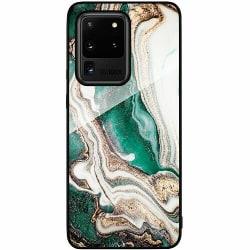 Samsung Galaxy S20 Ultra Svart Mobilskal med Glas Grön