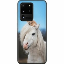 Samsung Galaxy S20 Ultra Mjukt skal - Horse with CatHat