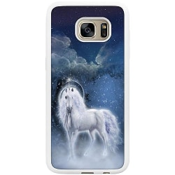 Samsung Galaxy S7 Edge Soft Case (Vit) Magical Horse