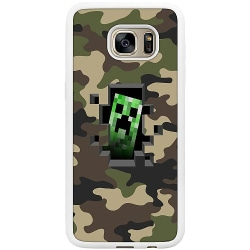 Samsung Galaxy S7 Edge Soft Case (Vit) Minecraft