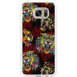 Samsung Galaxy S7 Edge Soft Case (Vit) Tiger