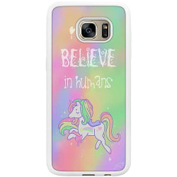 Samsung Galaxy S7 Edge Soft Case (Vit) Unicorn