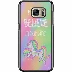 Samsung Galaxy S7 Hard Case (Svart) Unicorn