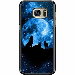 Samsung Galaxy S7 Hard Case (Svart) Moon Wolves