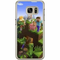 Samsung Galaxy S7 Hard Case (Transparent) MineCraft