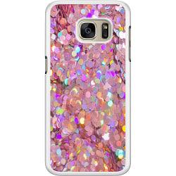 Samsung Galaxy S7 Hard Case (Vit) Glitter