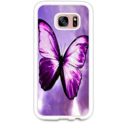 Samsung Galaxy S7 Soft Case (Vit) Fjäril