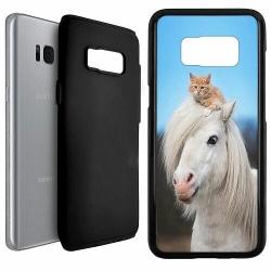 Samsung Galaxy S8 Duo Case Svart Häst & Katt