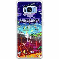 Samsung Galaxy S8 Soft Case (Vit) MineCraft