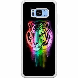 Samsung Galaxy S8 Soft Case (Vit) Neon Tiger