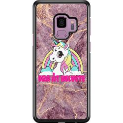Samsung Galaxy S9 Hard Case (Black) Unicorn - Dra Åt @!#