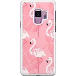 Samsung Galaxy S9 Hard Case (White) Flamingo