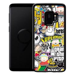 Samsung Galaxy S9 Mobilskal STICKER BOMB