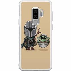 Samsung Galaxy S9+ Soft Case (Vit) Baby Yoda