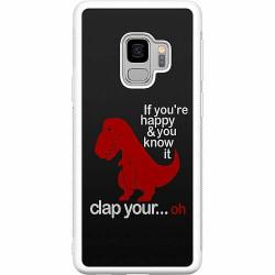 Samsung Galaxy S9 Soft Case (Vit) Dinosaurie