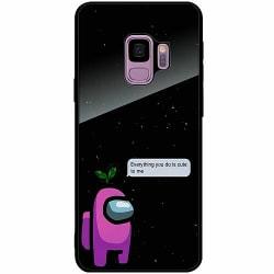 Samsung Galaxy S9 Svart Mobilskal med Glas Among Us