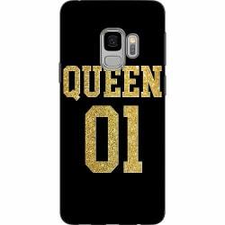 Samsung Galaxy S9 Mjukt skal - Queen 01 Black Gold