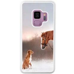 Samsung Galaxy S9 Soft Case (Vit) Häst & Hund