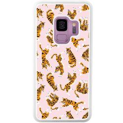 Samsung Galaxy S9 Vitt Mobilskal Tiger