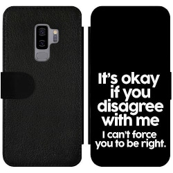Samsung Galaxy S9+ Wallet Slim Case Text