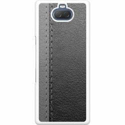 Sony Xperia 10 Hard Case (Vit) Black & Grey Leather