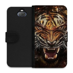 Sony Xperia 10 Plus Wallet Case Angry Tiger