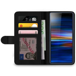 Sony Xperia 10 Plus Wallet Case Footprints