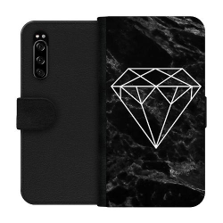 Sony Xperia 5 Wallet Case Marmor Diamant