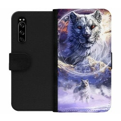 Sony Xperia 5 Wallet Case Kanu, The Frost Wolf God