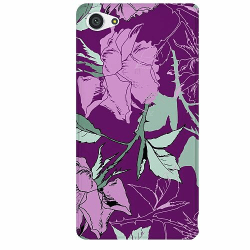 Sony Xperia Z5 Compact Thin Case Purple Tapestry With Flowers