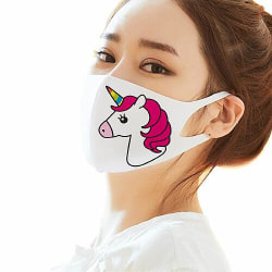 Tvättbar Ansiktsmask, Munskydd - Unicorn