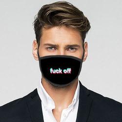 Tvättbar Fashion Mask - fuck off