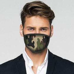 Tvättbar Fashion Mask - Woodland Camo