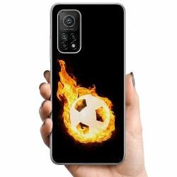 Xiaomi Mi 10T TPU Mobilskal Fire Fotball