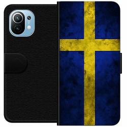 Xiaomi Mi 11 Wallet Case Sverige Flagga