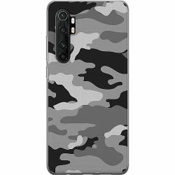 Xiaomi Mi Note 10 Lite Mjukt skal - Military B/W